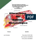 Alteraciones Del Sistema Hematologico