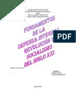 Fundamentos de La Defensa Integarl, Revolución y Socialismo Del Siglo XXI - Copia