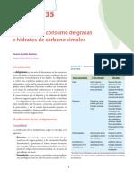 Dislipidemia Consumo de Grasas y Carbo Hidratos