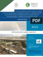 Estimacion de La Flota Vehicular CGMCC 2016