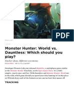 Should You Play Monster Hunter