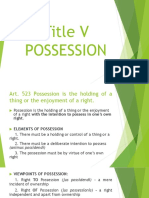 Possession - General Provisions