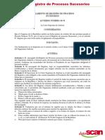 Reglamento de Registro de Procesos Sucesorios