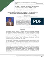 Estudio de Oferta y Demanda de Transiporte Comercial Tulcan Ejemplo