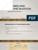 Business and Income Taxation