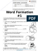 Fce Word Formation #1