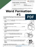 Fce Word Formation #1