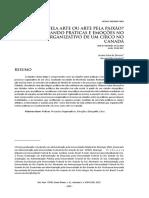 (2018) Oliveira & Cavedon - Paixão Pela Arte Ou Arte Pela Paixão Etnografando Práticas e Emoções No Processo