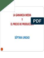 7ma. Ganancia Media y Precio de Produccion