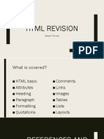 HTML Revision