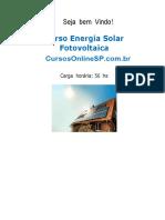 Curso Energia Solar Fotovoltaica Sp 78281