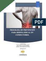 Programa de Prevencion Para Hernia Discal en Conductores
