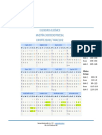 Calendario Académico -Derecho Procesal Cohorte 2018-01 p02