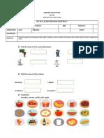 Pruebas de Diagnostico  8 y 10 Inglés Scrib
