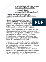 Sobre Teatro Comico y Hector Malamud