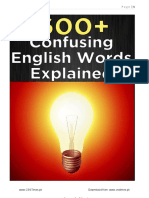 600 Confusing English Words Explained III