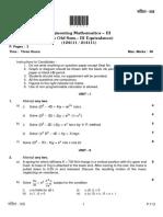 124111 214111 EngineeringMathematics III October2017 B E WithCredits RegularCGPAPatternSE 4D07EEF0
