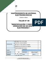 T-08 Tarea Identificación y Puesta en Operación de Un Grupo Electrógeno.