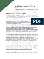 Evolución Territorial Del Estado de México
