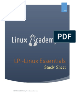Linux Essentials Study Sheet