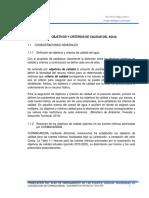CAPITULO 1. Objetivos y Criterios de Calidad Del Agua
