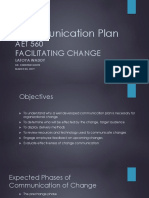 AET 560 Communication Plan Final