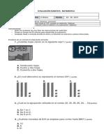 Evaluacion III Matematica Segundo Año