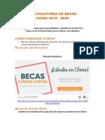 Convocatoria de Becas Instructivo 2019