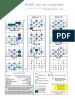 2019-2020 school year calendar abcd