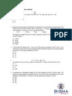 Quiz12 SAT MATH