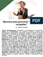 Ejercicio Para Personas Realmente Ocupadas (Version Micro)