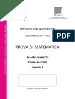 Invalsi Matematica 2017-2018 Primaria Seconda