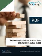 Twelve step transition process