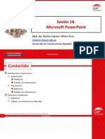 Sesion 18. Microsoft PowerPoint