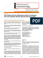 HYDROGEN - Anti-oxidant and Anti-Inflammatory Effects of Hydr-rich Water