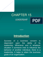 Chapter 9 Leadership