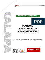 Manual General de Organización Xalapa