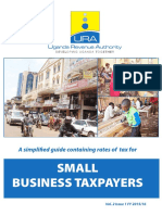 Simplified Guide on Taxation of Small Business Taxpayers