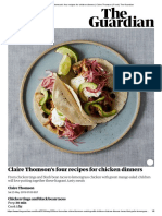 Claire Thomson's Four Recipes for Chicken Dinners _ Claire Thomson _ Food _ the Guardian