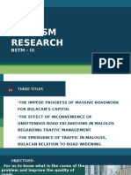 Tourism Research Title Def