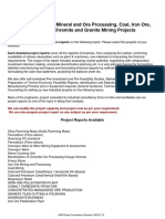 Niir Project Mining Quarrying Mineral Ore Processing Coal Iron Ore Limestone Chromite Granite Mining Projects