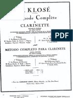 Klose Metodo Clarinete