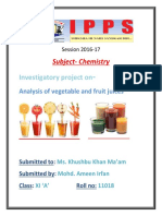Subject-Chemistry Investigatory Project
