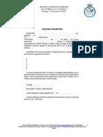Boletín de Inscripción RC Mediterráneo