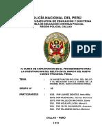 La Investigacion Policial y La Carga de La Prueba en El Ncpp
