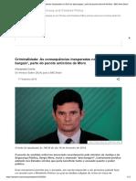 Criminalidade_ as Consequências Inesper...Te Anticrime de Moro - BBC News Brasil