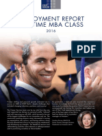 ESMT Mba Placement Report Class 2016