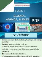 Átomos elementos clase 1 Universidad Cayetano Heredia