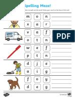 Cvc Spelling Maze