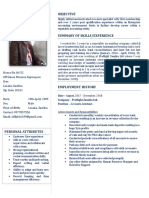 Phiri Jeff- Curriculum Vitae (Updated)